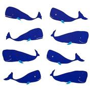 Gift Wrap - Whale - White/Navy