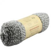 Celine lin One Skein 100% Wool Thick Hand Knitting Yarn 227g,Grey & White