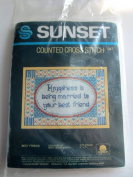 Sunset Counted Cross Stitch Kit, Best Friend
