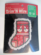 Trim 'N Wire 15cm Round Counted Cross Stitch Kit #23140cm Geese Sock""