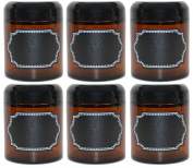 Firefly Craft Amber Glass Apothecary Salve Jars
