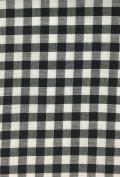 5 Yard Bolt Black 150cm Gingham Cheques Fabric - 0.6cm Cheque