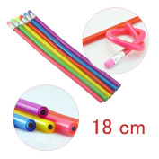 UCEC Colourful Bendy Soft Pencils With Eraser For Kids Writing Gift - Pack of 6
