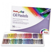 Pentel Arts Oil Pastels, 50 Colour Set, PHN-50