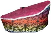 Babybooper Baby Beanbag, Pink/Black Zebra Stripe