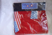 American USA 30 by 30 Red Baby Fleece Blanket