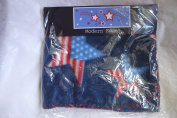 Dark Blue American Star 30 by 30 Baby Fleece Blanket