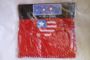 Embroidered Applique American Heart 30 by 30 Red Baby Fleece Blanket