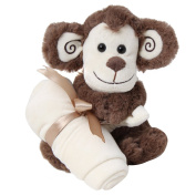 Monkey Snuggler 20cm Inches Brown Soft Plush Stuffed Animal