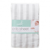 aden® by aden + anais® Muslin Fitted Crib Sheet in Grey Stripe