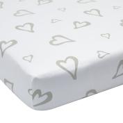 Greenbuds Abstract Affection Organic Cotton Crib Sheet