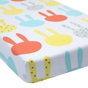 Greenbuds Snuggle Bunnies Organic Cotton Crib Sheet