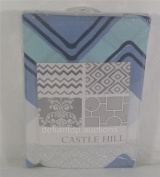 Castlehill Merriweather Fitted Nursery Crib Sheet - Blue Chevron