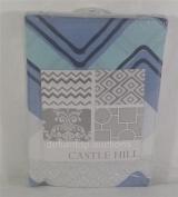 Castlehill Merriweather Fitted Nursery Crib Sheet - Blue Chevron