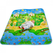 MaBoShi 79*180cm One-side Castle Extra Large Thickness Baby Crawling Mat