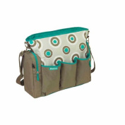 Super Functional Nappy Bag with Turquoise Dot Design