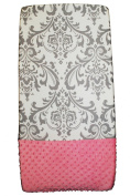 Sisi Baby Design Nappy Changing Table Pad Cover - Grey Damask