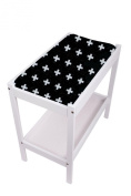 Bambella Designs Nappy Changing Mat Cover - Black Crosses