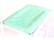 Bambella Designs Nappy Changing Mat Cover - Mint Arrows