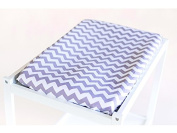 Bambella Designs Nappy Changing Mat Cover - Grey Chevron