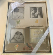 Nursery Rhyme Baby's First Milestone Silver Picture Frame