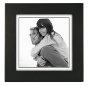 Malden Linear Wood Picture Frame, Black, holds 5x5 picture
