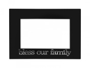 1.2m x 1.8mBless Our Family' Picture Frame, Glass Front - Colour