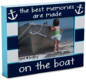 Pavilion Gift Company We Baby The Best Memories are Made on The Boat Picture Frame, Dark Blue, 15cm x 10cm