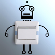 Ussore Wall Stickers Robot switch stickers Light Switch Decor Decals Art Mural Baby Nursery Room Bedroom