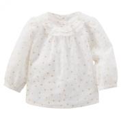 OshKosh B'gosh Baby Girls' Sparkle Star Ruffle Top - Ivory - 0-3 Months