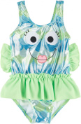 Candlesticks Baby Girls' Blue Fish One Piece Swimsuit