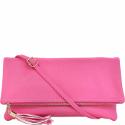 JNB Foldover Clutch with Tassel