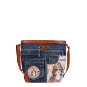 Nicole Lee Wanda Denim Print Cross Body Bag, Suzy