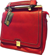 Roma Leathers 8006 Red Messenger Crossbody Concealed Purse
