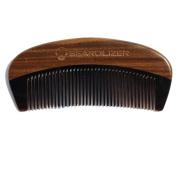 Beardilizer Beard Comb - 100% Natural Black Ox Buffalo Horn & Sandalwood Handle