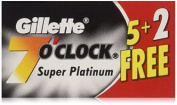84 7 O'clock Super Platinum Double Edge Safety Razor Blades - AKA 2.1mOclock Black