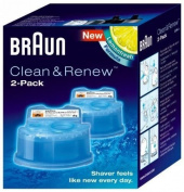 Braun Shaver Clean & Re Refill Cartridges CCR-2 60 Shaver Cleaning Cycles - 2