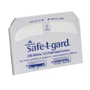 Georgia-Pacific Safe-T-Gard 47052 1/2-Fold Toilet Seat Cover, 44cm L X 37cm W - White