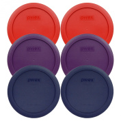 Pyrex 7201-PC Round 4 Cup Storage Container Lids for Glass Bowls