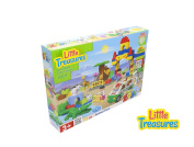 72 Piece Building Block Do It Yourself Zoo Play set with Lion and Alligator All Pieces Interchangeable with Duplo Blocks