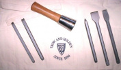 HARD STONE HAND CARVING SET WITH ROUND HAMMER