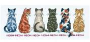 I am the one glance back, DMC thread Counted Cross Stitch Kits,14ct,253*96stitch, 56*28cm Cross Stitch Kit