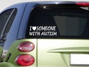 I love someone with Autism sticker *H373* 20cm awareness speaks autistic