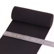 Cotowin 15cm Wide Black Knit Heavy Stretch High Elasticity Elastic Band 2-yard
