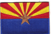 ARIZONA STATE FLAG - IRON ON EMBROIDERED PATCH - STATE OF ARIZONA FLAG-SOUTHWEST