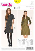 Burda Sewing pattern, 6832 - Dress-Easy