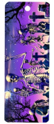Moonlight Boogie, Skeleton in Graveyard 3-D Bookmark with Tassel