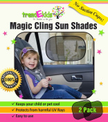 trendEkids Premium Baby Car Window Magic Cling Sun Shades. Blocks 97% of Harmful UV Rays Protects Your Child From Sunlight Glare 2X Ultimate Child Car Side Window Sunscreens.