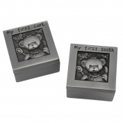 Novias Antique Sophisticated Design Decorative My First Curl and Tooth Box Set Teddy Bear Ring Box