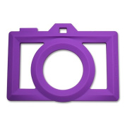 Little Standout Silicone Camera Teething Toy - Purple